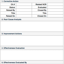 root cause report template corrective quality assurance and quality