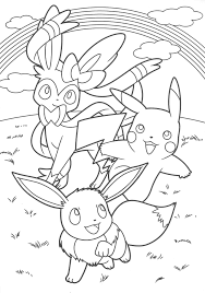 pikachu and eevee friends coloring book coloring pagessss