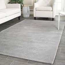 Modern Grey Rugs Likeable Safavieh Handmade Himalaya Solid Grey Wool Rug 5 X 8