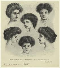 how to style hair for 1900 coiffure femme 1908 style 1900 1920 pinterest