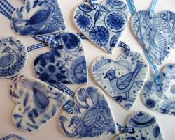 beautiful blue white handpainted delft porcelain ornaments by