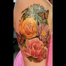 flowers and butterflies tattoo best tattoo design ideas