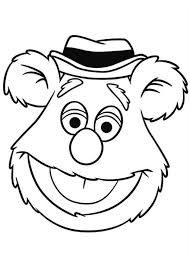drawing head fozzie bear muppets coloring pages bulk color