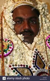 muslim and groom muslim groom dressed for his wedding tamil nadu india stock