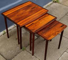 table splendid danish mid century modern rosewood nesting tables