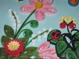 membuat hiasan bunga dari kertas lipat paper quilling dunia rumah