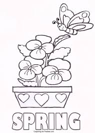 spring coloring pages free printable coloring pages kids collection