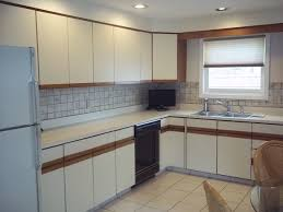 Melamine Kitchen Cabinets Granite Countertop Melamine Cabinets Before After Faucets Kwc