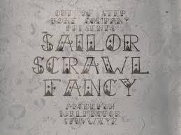 sailor scrawl font family 1001 fonts