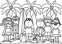 kids summer activities activity coloring page wecoloringpage