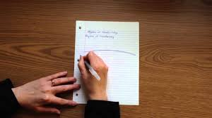 guidelines for writing on plain paper why you tilt your paper when writing youtube