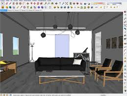 of scandinavian interior with sketchup vray and photoshop