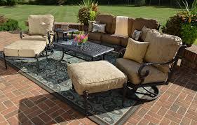 Patio Furniture Swivel Chairs Amalia 7 Piece Luxury Cast Aluminum Patio Furniture Deep Seating