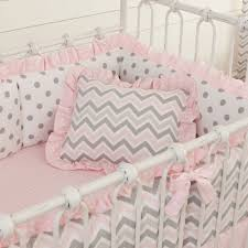 Pink And Gray Crib Bedding Pink And Gray Chevron Crib Bedding For Baby By Carousel