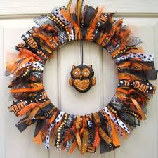 halloween wreath trick or treat halloween wreath fabric wreath ribbon wreath with