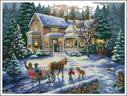 top quality lovely counted cross stitch kit coming home for the