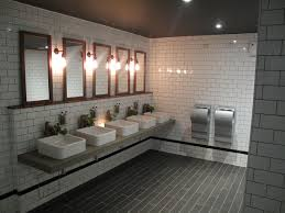 commercial bathroom design cool industrial toilet design with stylish subway tiles from