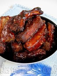 recette cuisine au four côtes levées collantes cuites au four