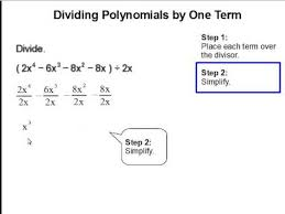 dividing polynomials by one term youtube