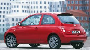 red nissan nissan micra side pose in red at 25th anniversary wallpaper