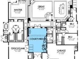 amazing 11 small south west home plans with courtyard house floor