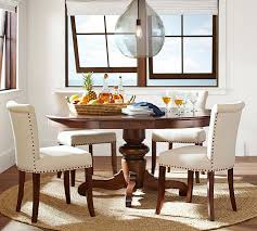 Extending Dining Table And Chairs Tivoli Extending Pedestal Dining Table Pottery Barn