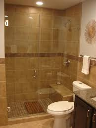 minimalist small bathroom design with shower only doble white sink
