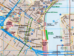 New Orleans La Map by City Map Of New Orleans Louisiana Borch Map Maps Company