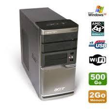ordinateur de bureau en wifi ordinateur de bureau acer avec wifi achat vente pas cher