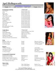 Child Actor Resume Sample Modeling Acting Resume Templates Virtren Com