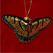 swallowtail butterfly glass personalized