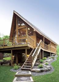 chalet style house plans enjoy the gorgeous gabled roof siding spacious deck and