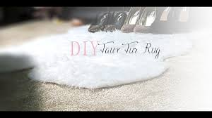 Furry Blanket Diy Faux Fur Rug Youtube