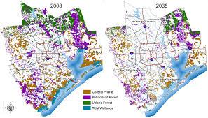 Map Of Houston Area Deforestation Sprawl Increase Runoff Houston Tomorrow
