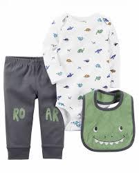 Basta Conjunto Carters menino - três peças: calça + body manga longa +  @YE11