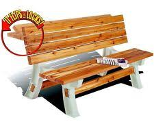 outdoor wooden bench kit garden patio wood picnic diy 2x4 seat