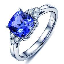 natural tanzanite rings images 2 kt square natural tanzanite ring gold precious blue sapphire cz jpg