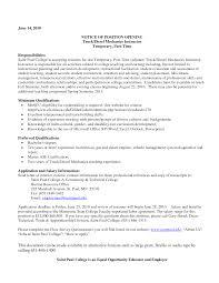 Truck Resume Bus Mechanic Sample Resume