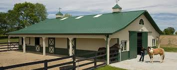 How Much Does A Pole Barn Cost Equine Building Profile Use Horse Barn With Deluxe Dutch Doors