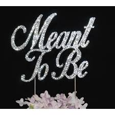 bling wedding cake toppers buy meant to be bling wedding cake topper online yacanna