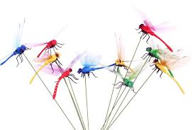 homgaty 7cm 10pcs colourful garden butterflies on sticks plant