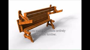 Folding Picnic Table Bench Plans Free by 05 Wc 0689 Folding Bench Picnic Table Downloadable Pdf Youtube