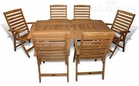 Teak Patio Table Teak Patio Dining Set For 6