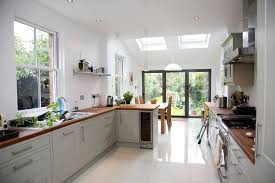 Kitchen Idea Pictures Kitchen Idea Longer Kitchen Design With Small Velux Extension