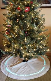 light up christmas skirt light up christmas tree skirt tutorial