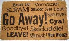 doormat funny go away synonyms coco mat pure coir mats pinterest doormat