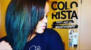 Best Temporary Hair Color For Dark Hair L U0027oreal Colorista Semi Permanent Hair Color Teal Youtube