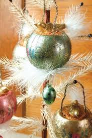 mercury glass egg nest ornaments from trading company