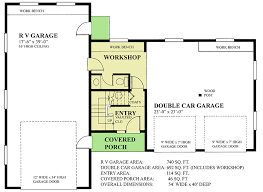 rv garage with blank canvas above 9827sw architectural designs