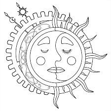 moon and stars coloring pages for kids new star preschoolers glum me